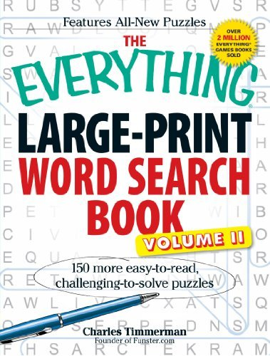 Charles Timmerman The Everything Large Print Word Search Book Volum 150 More Easy To Read Challenging To Solve Puzzl Large Print