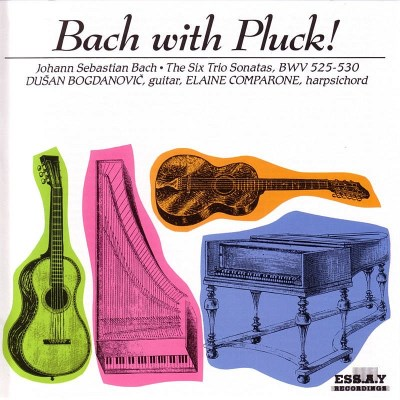 Bach Bach With Pluck Vol. 1 Bogdanovic (gtr) Comparone (hp