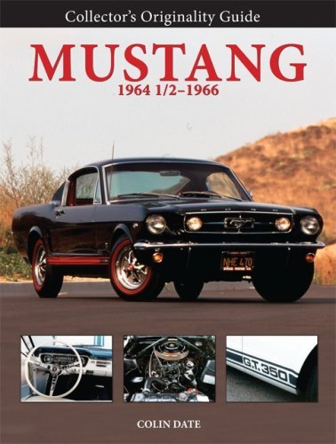 Colin Date Collector's Originality Guide Mustang 1964 1 2 196