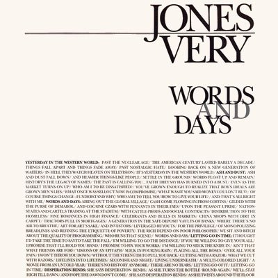 Jones Very Words & Days