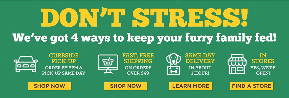 4 ways to keep your family fed. Same Day Delivery, Curbside Pickup, Standard Shipping, Shop in Store.