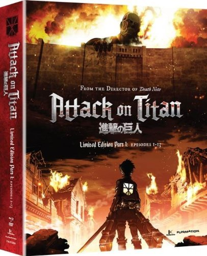 Attack On Titan Part 1 Blu Ray DVD Limited Edition