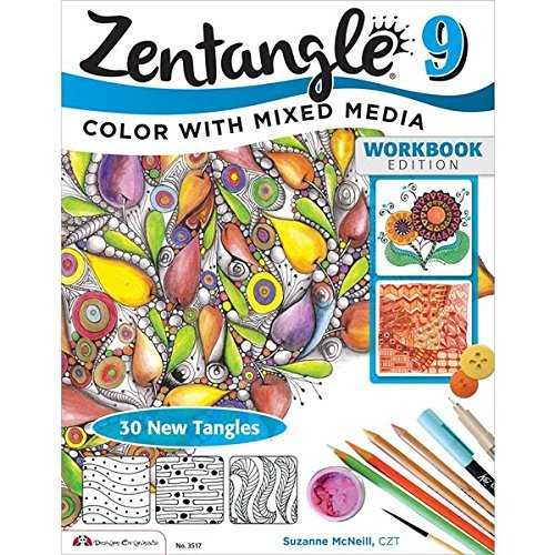 Suzanne Mcneill Zentangle 9 Color With Mixed Media Workbook