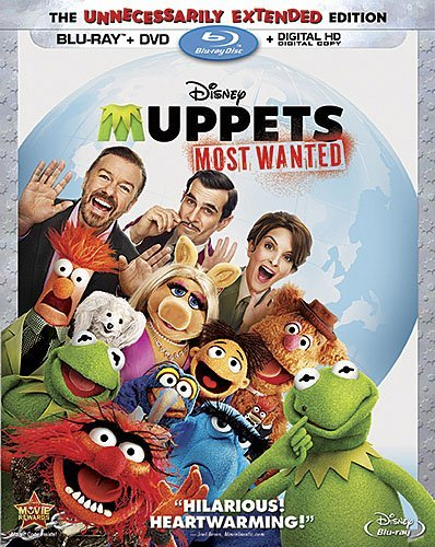 Muppets Most Wanted Gervais Burrell Fey Blu Ray DVD