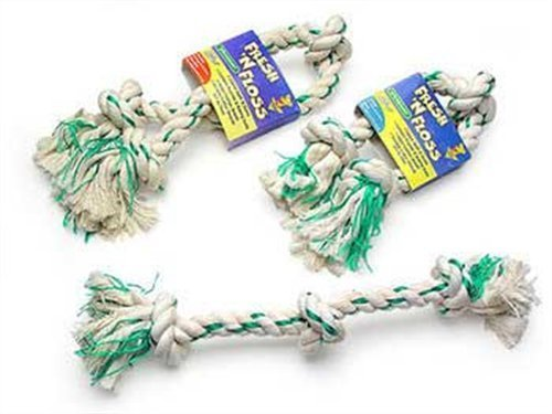 Booda Fresh N Floss Bone Sm Aspen Booda Corporation Dbx52301 Fresh And Floss 2 Knot Spearmint Toy For Pets Small
