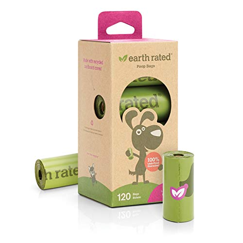 Earth Poop Bags 8 Roll 120ct 120 Count Earth Rated® Lavender Scented Dog Waste Bags 8 Refill Rolls