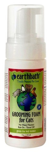 Earthbath Cat Foam Tea 4oz Earthbath All Natural Green Tea Essence Cat Grooming Foam 4 Ounce