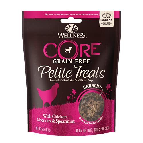 Wellness Sbr Crunch Ckn Trt 6z Wellpet 76344890706 Wellness Petite Crunchy Mini Chicken Cherry Supermint Treats For Dogs 6 Ounce