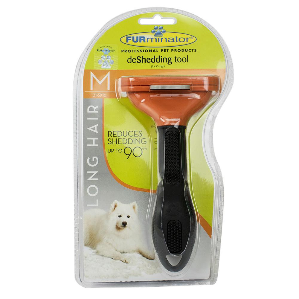 Furminator D Long Hair Medium Furminator Long Hair Deshedding Tool For Dogs Medium (101006)