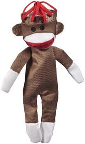 Jw D Crackl Hds Canv Monkey Md Jw Pet Company Crackle Heads Canvas Monkey Dog Toy Medium