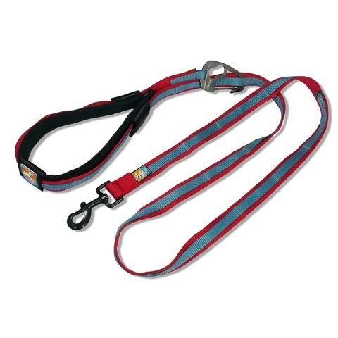 kurgo-quantium-leash-red-and-blue