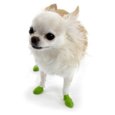 "Pawz Dog Boots Xlg Green 12ct Water Proof Dog Boots 12 Pack Color Green Size X Large (94"" 5"")"