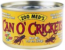 Zoo Can O'crickets 1.2oz Zoo Med Laboratories Szmzm41 Can O Crickets Pet Food 1.2 Ounce