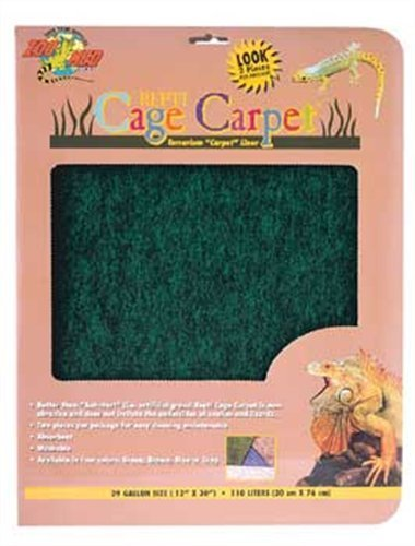 Zoo Repti Cage Carpet 10gal Zoo Med Reptile Cage Carpet For 10 Gallon Tanks 20 X 10 Inches