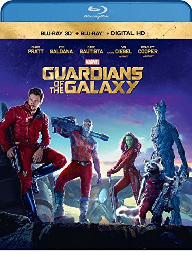 Guardians Of The Galaxy Pratt Saldana Cooper Diesel Bautista 3d Blu Ray Dc Pg13