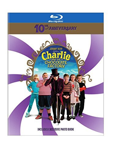 Charlie & The Chocolate Factory Depp Carter Highmore Blu Ray 10th Anniversay Pg13