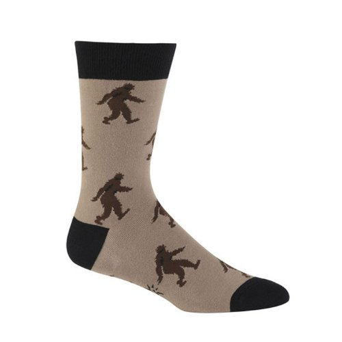 Sock It To Me Sasquatch Brown Men's Crew Socks