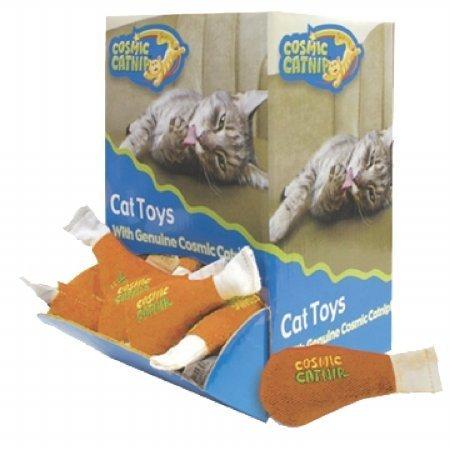 Pet Life Cosmic Bulk Chkn Leg 48pc Cosmic Catnip Chicken Leg Cat