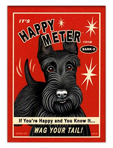 Retro Mag Happy Meter Scottish Terrier