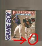 Gameboy Bo Jackson Hit And Run Bo Jackson Baseball & Football