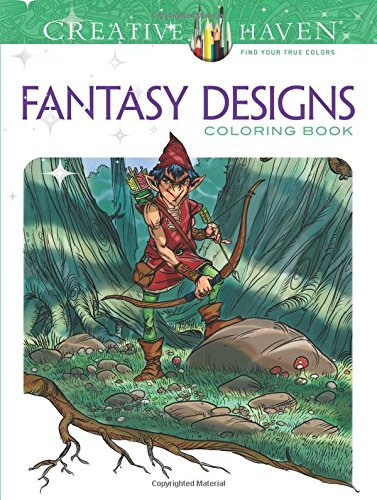 Aaron Pocock Creative Haven Fantasy Designs Coloring Book