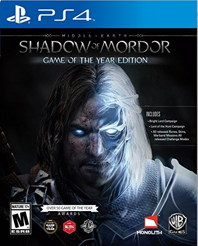 Ps4 Middle Earth Shadow Of Mordor Game Of The Year Edition Middle Earth Shadow Of Mordor Game Of The Year