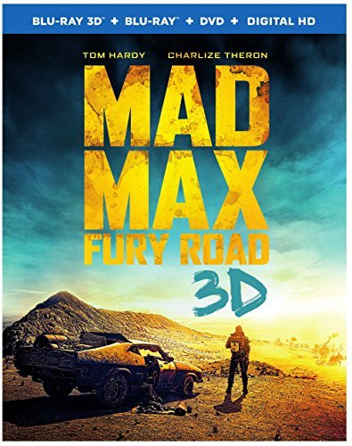 Mad Max Fury Road Hardy Theron 3d Blu Ray DVD Dc R