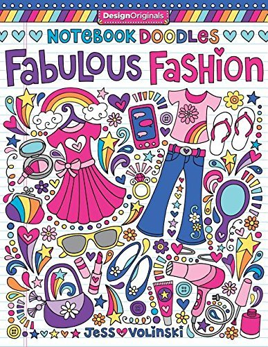 Jess Volinski Notebook Doodles Fabulous Fashion Coloring & Activity Book