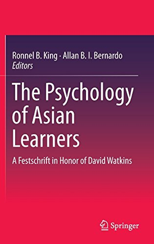 Ronnel B. King The Psychology Of Asian Learners A Festschrift In Honor Of David Watkins 2016