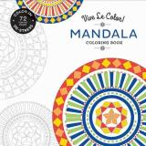 Abrams Noterie Vive Le Color! Mandala (adult Coloring Book) Color In; De Stress (72 Tear Out Pages)