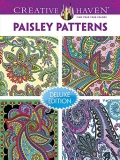 Dover Publications Inc Creative Haven Paisley Patterns Coloring Book Deluxe Edition 4 Books In 1