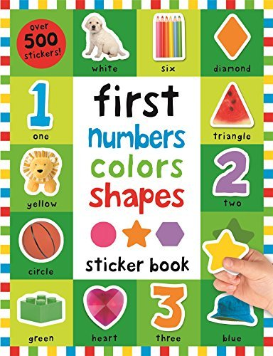 Roger Priddy First 100 Stickers First Numbers Colors Shapes