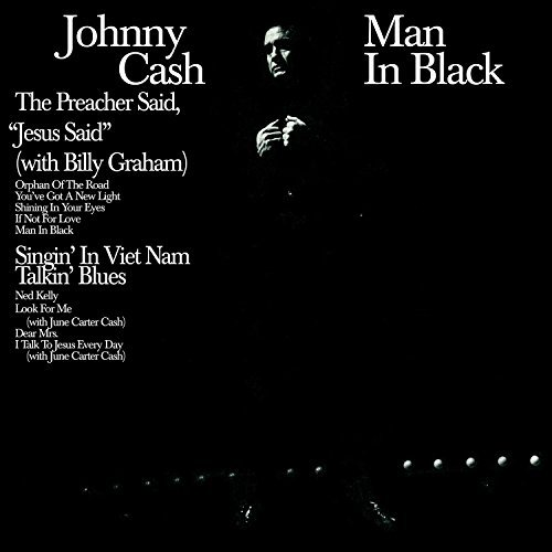 Johnny Cash Man In Black 180 Gram Audiophile Translucent Blue Vinyl Limited 45th Anniversary Edition Gatefold Cover