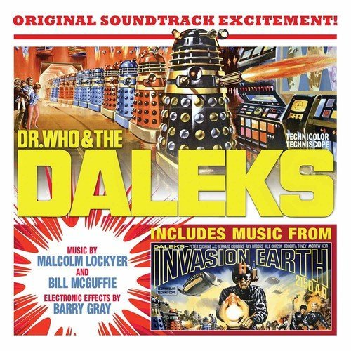 Dr. Who & The Daleks & 1966 Daleks Invasion Earth 2150 A.D. Soundtrack 2lp 180 Gram Yellow Vinyl Gatefold First Time On Vinyl Limited To 1000