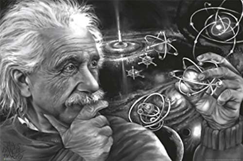 Poster Einstein Quazar By James Harvey Danger Poster Art