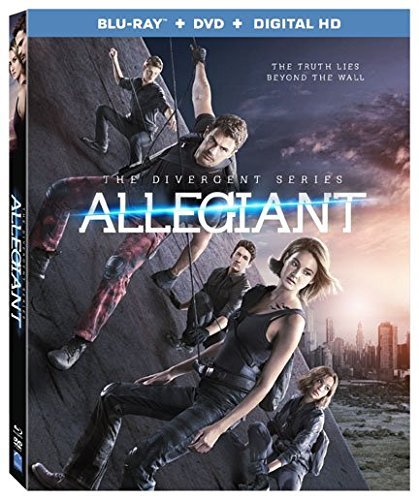 Divergent Allegiant Woodley James Blu Ray DVD Dc Pg13