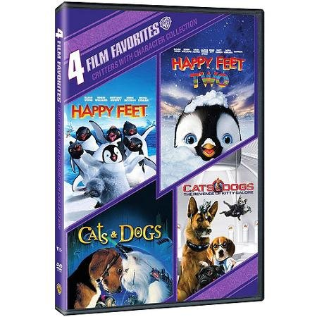 4 Film Favorites Happy Feet Happy Feet 2 Cats & Dogs Cats & Dogs Revenge Of Kitty Galore Critters With Character Collection
