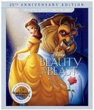 Beauty & The Beast Disney Blu Ray DVD Dc 25th Anniversary Edition