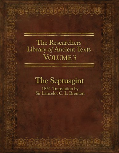 Thomas Horn The Researcher's Library Of Ancient Texts Volume The Septuagint 1851 Translation By Sir Lancelot