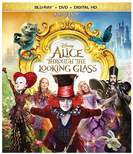 Alice Through The Looking Glass Depp Wasikowska Blu Ray DVD Dc Pg