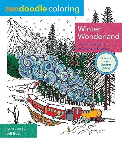 Jodi Best Zendoodle Coloring Winter Wonderland Seasonal Delights To Color And