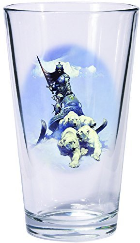 Pint Glass Set Frazetta Silver Warrior Huntress