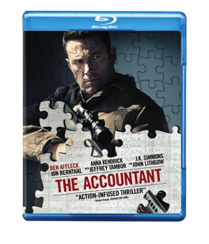 Accountant Affleck Kendrick Simmons Blu Ray DVD Dc R
