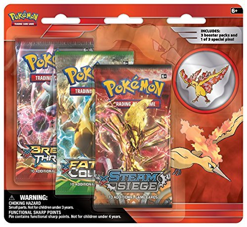 Pokemon Cards Legendary Birds 3 Pack Blister With Pin