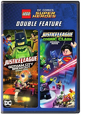 Lego Dc Super Heroes Justice League Double Feature DVD Gotham City Breakout Cosmic Clash