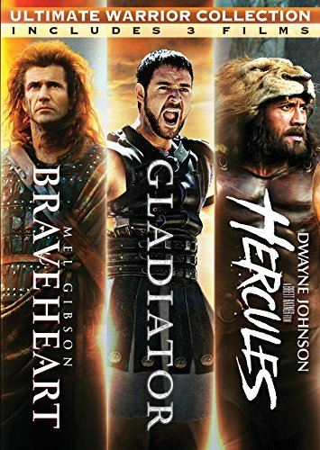 Braveheart Gladiator Hercules Triple Feature DVD