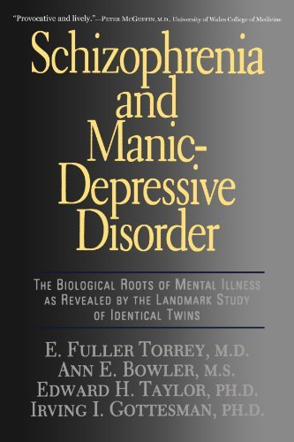 E. Fuller Torrey Schizophrenia And Manic Depressive Disorder The Biological Roots Of Mental Illness As Reveale Revised