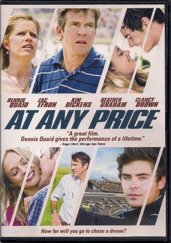 Zac Efron Dennis Quaid At Any Price (dvd 2013)
