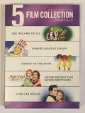 5 Film Collection Musicals The Wizard Of Oz Yankee Doodle Dandy Singin' In The Rain Seven Brides For Seven Brothers Viva Las Vegas 5 Film Collection Musicals