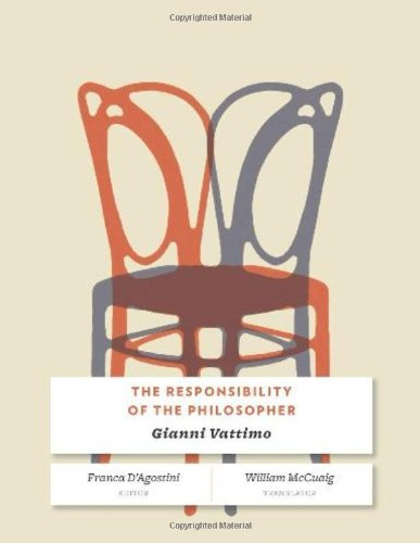 Gianni Vattimo The Responsibility Of The Philosopher